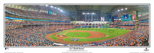 """2017 World Series"" Houston Astros at Minute Maid Park Panoramic Framed Poster"