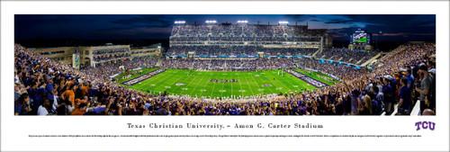 "TCU Horned Frogs ""50 Yard Line"" at Amon Carter Stadium Panoramic Poster"