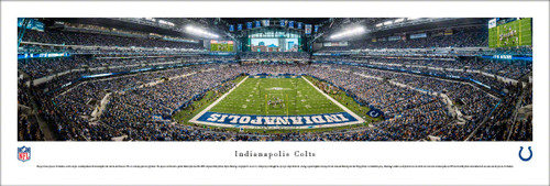 """Indianapolis Colts """"End Zone"""" at Lucas Oil Stadium Panoramic Poster"""