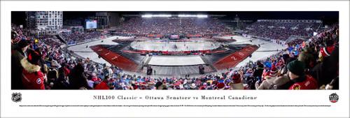 NHL 100 Classic Montreal Canadians vs Ottawa Senators Panoramic Poster