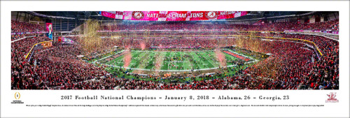 2018 College Football National Championship Alabama vs. Georgia Panoramic Poster