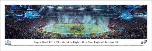 Super Bowl LII Philadelphia Eagles Championship Panoramic Poster