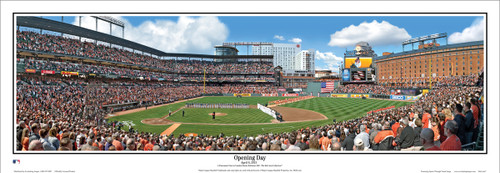 "Baltimore Orioles ""Opening Day"" Camden Yards Panoramic Framed Poster"