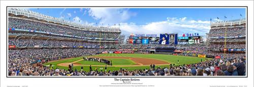 """Derek Jeter """"The Captain Retires"""" Yankee Stadium Panoramic Framed Poster"""