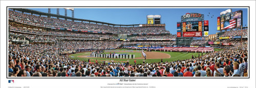 "Citi Field ""All-Star Game"" Panoramic Framed Poster"