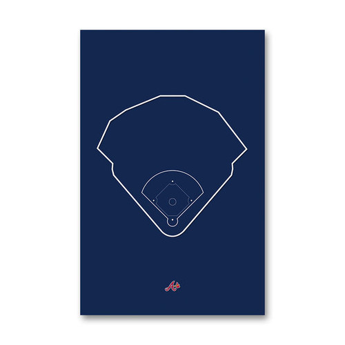 SunTrust Park Outline - Atlanta Braves Art Poster
