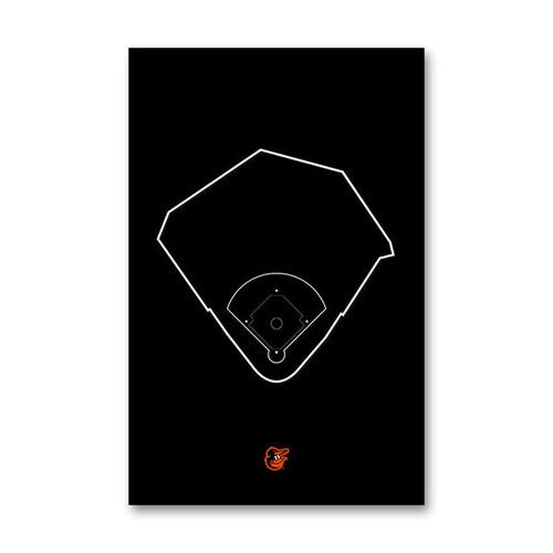 Camden Yards Outline - Baltimore Orioles Art Poster