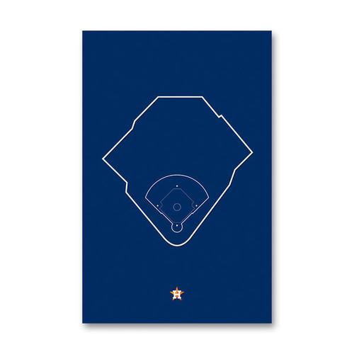Minute Maid Park Outline - Houston Astros Art Poster