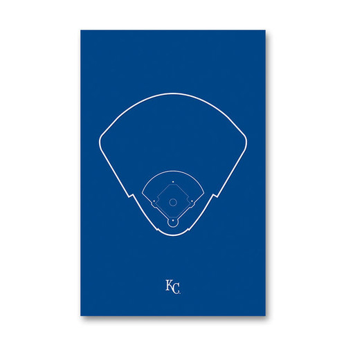 Kauffman Stadium Outline - Kansas City Royals Art Poster