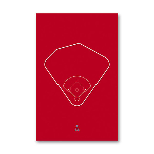 Angel Stadium Outline - Los Angeles Angels Art Poster