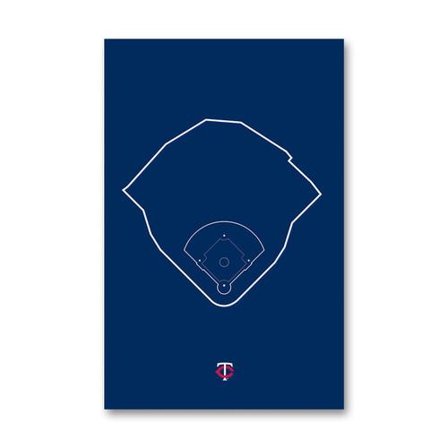 Target Field Outline - Minnesota Twins Art Poster