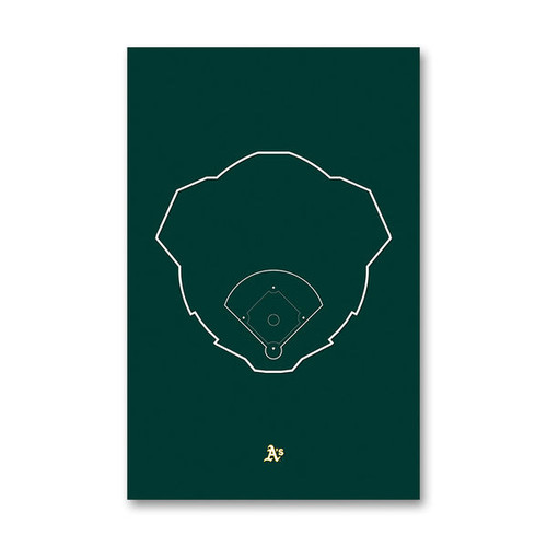 Oakland Coliseum Outline - Oakland A's Art Poster