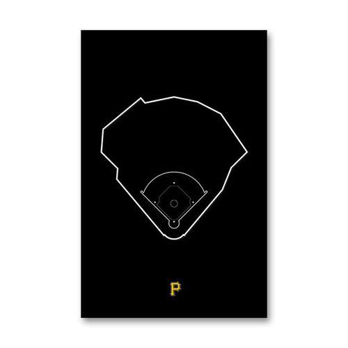 PNC Park Outline - Pittsburgh Pirates Art Poster