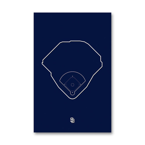 Petco Park Outline - San Diego Padres Art Poster