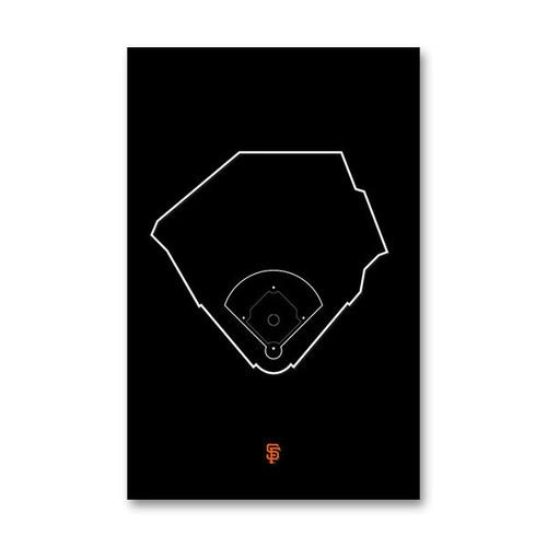 AT&T Park Outline - San Francisco Giants Art Poster
