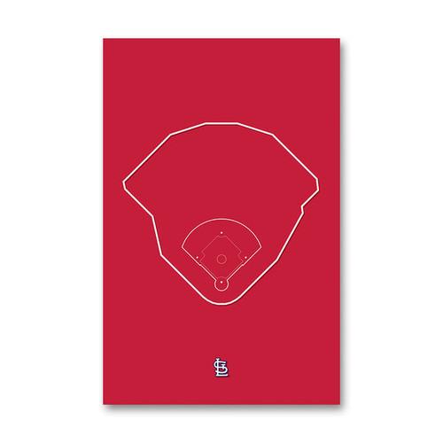 Busch Stadium Outline - St. Louis Cardinals Art Poster