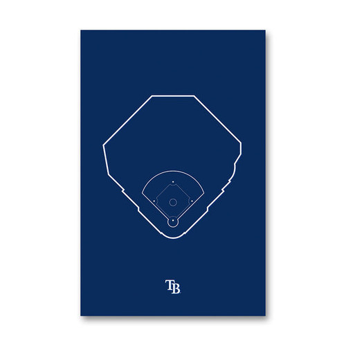 Tropicana Field Outline - Tampa Bay Rays Art Poster