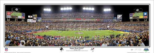 """Super Bowl XLIII"" Pittsburgh Steelers Panoramic Poster"