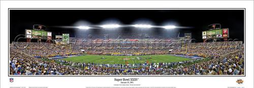 """Super Bowl XXXV"" Baltimore Ravens Panoramic Poster"