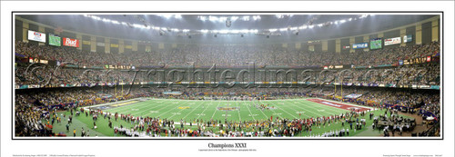 """Super Bowl XXXI"" Green Bay Packers Panoramic Poster"