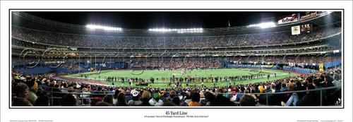 """Pittsburgh Steelers """"45 Yard Line"""" Three Rivers Stadium Panoramic Poster"""