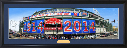 "Chicago Cubs ""Celebrating 100 Years"" Wrigley Field Panoramic Poster"