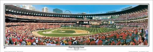 "St. Louis Cardinals ""Final Opening Game"" Busch Stadium Panoramic Poster"