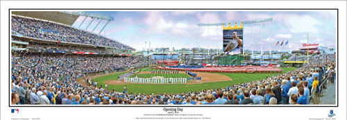 "Kansas City Royals ""Opening Day"" Kauffman Stadium Panoramic Poster"
