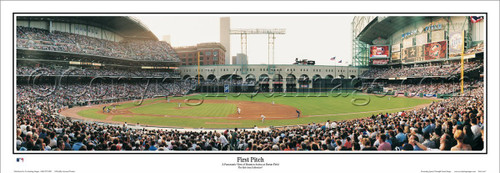 "Houston Astros ""First Pitch"" at Enron Field Panoramic Poster"