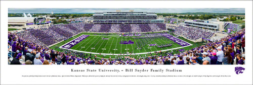 Kansas State Wildcats at Bill Snyder Family Football Stadium Panoramic Poster