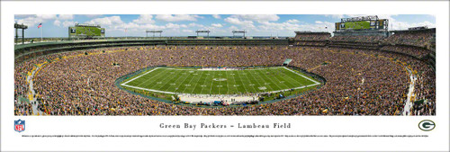 "Green Bay Packers ""100 Seasons"" at Lambeau FieldPanoramic Poster"