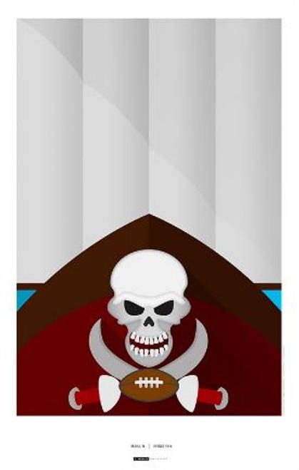 Tampa Bay Buccaneers - Raymond James Stadium Art Poster