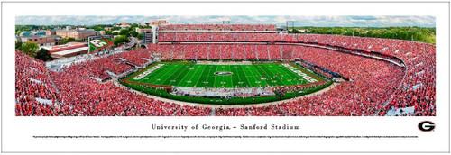 Georgia Bulldogs at Sanford Stadium Panoramic Poster