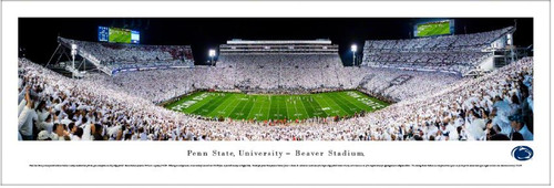 "Penn State Nittany Lions ""White Out"" at Beaver Stadium Panoramic Poster"
