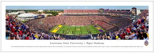 "LSU Tigers ""50 Yard Line"" at Tiger Stadium Panoramic Poster"