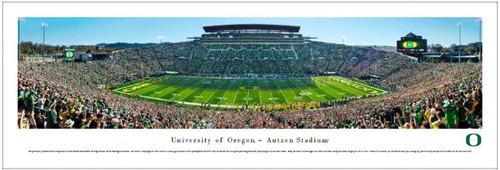 "Oregon Ducks ""50 Yard Line"" at Autzen Stadium Panoramic Poster"
