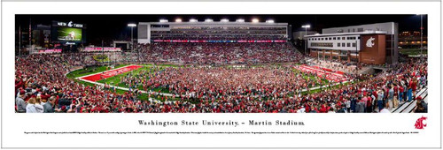 Washington State Cougars vs Oregon Ducks at Martin Stadium Panoramic Poster