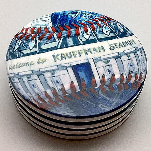 Kauffman Stadium Coaster Set