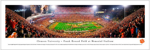 Clemson Tigers vs South Carolina Gamecocks at Memorial Stadium Panoramic Poster