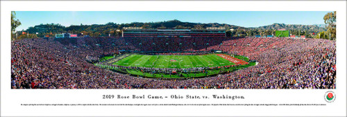 2019 Rose Bowl Kickoff - Ohio State Buckeyes vs Washington Huskies Panoramic Poster