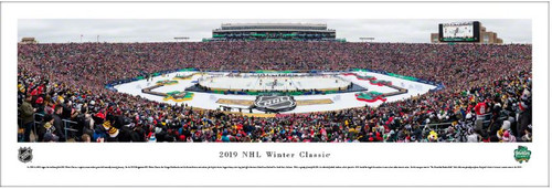 2019 NHL Winter Classic at Notre Dame Stadium Panoramic Poster