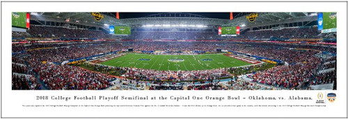 2018 Orange Bowl - Oklahoma Sooners vs Alabama Crimson Tide Panoramic Poster