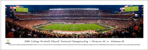 2018 College Football Playoff National Championship - Clemson vs Alabama Kickoff Panoramic Poster