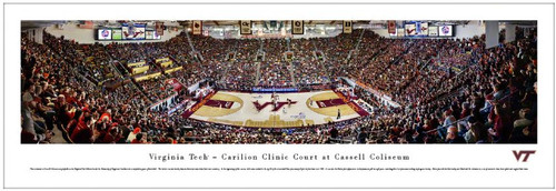 Virginia Tech Hokies at Cassell Coliseum Panoramic Poster