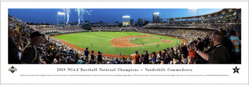 2019 College World Series Vanderbilt Commodores Champions Panoramic Poster