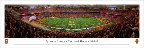 "Syracuse Orange ""The Loud House"" Carrier Dome Panoramic Poster"