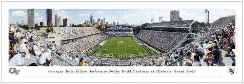 Georgia Tech Yellow Jackets at Bobby Dodd Stadium Panoramic Poster