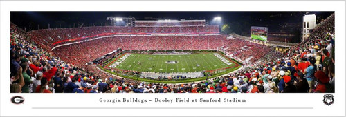 Georgia Bulldogs vs Notre Dame Fighting Irish at Sanford Stadium Panoramic Poster