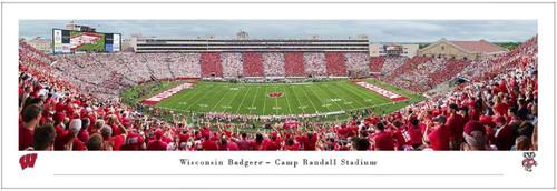 Wisconsin Badgers vs Michigan Wolverines at Camp Randall Stadium Panoramic Poster