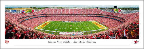 "Kansas City Chiefs ""50 Yard Line"" at Arrowhead Stadium Panoramic Poster"